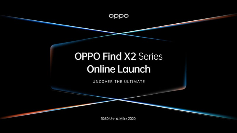 OPPO Find X2 Series Online Launch