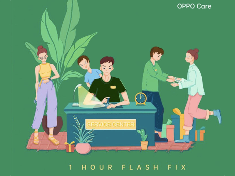 OPPO Care – Fast, Reliable & Comfortable 1-Hour Device Repairs