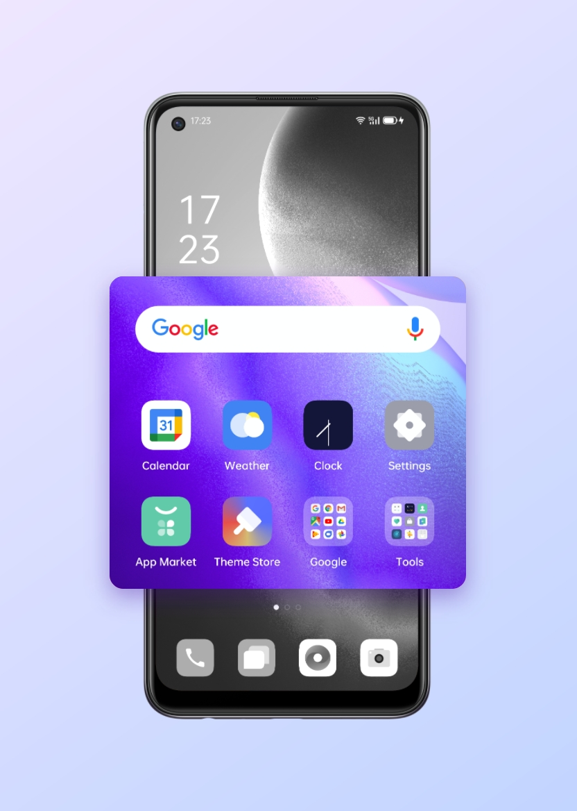 OPPO Reno5 Z Folder Quick Merge