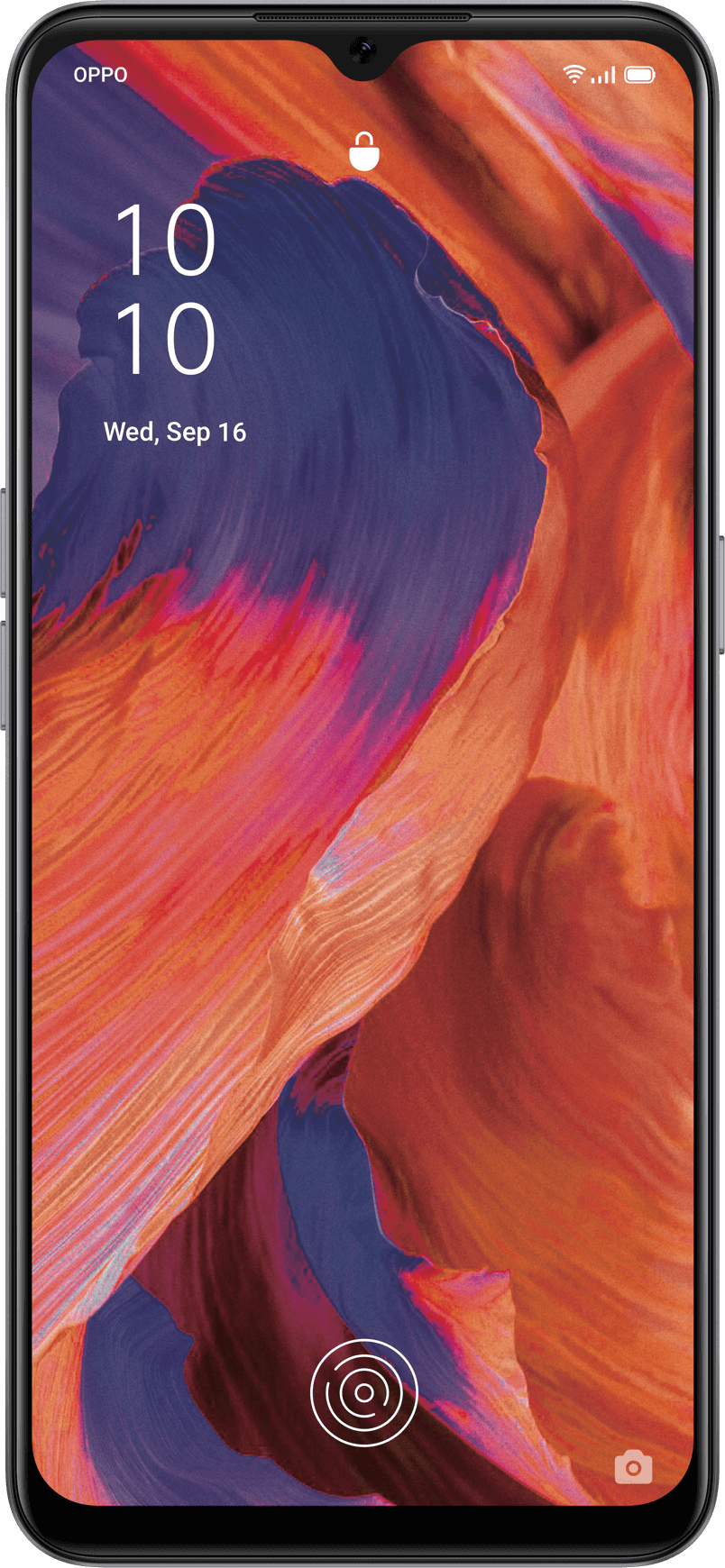 """OPPO A73 6.44""""screen, 2400 x 1080 resolution, 90.7% screen-to-body ratio, 408PPI pixel density, 1.67mm border width, 20 : 9 aspect ratio"""